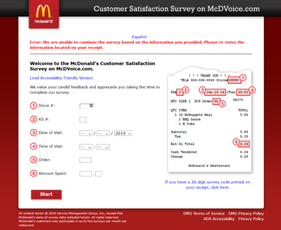 www.mcdvoice.com online survey